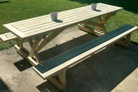 Plans Building Wooden Picnic Tables by Picnic Table 5 Steps With Pictures