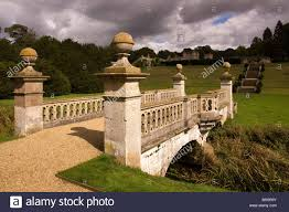 ornamental bridge the river witham in easton walled stock