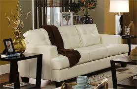 Cream Leather Sofa Set Samuel Collection Item - Cream leather sofas