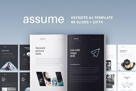 keynote brochure template a4 assume keynote template gift presentation templates