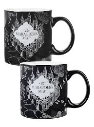 Harry Potter World Map by Harry Potter Marauder U0027s Map Heat Reveal Mug Topic