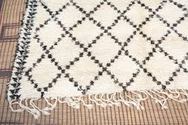Brown And Black Rugs Moroccan White And Black Beni Ouarain Rug For Sale At 1stdibs