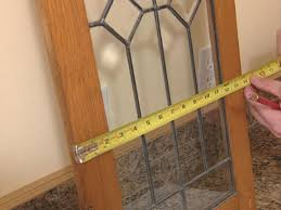 kitchen cabinet door stained glass inserts how to add antique leaded glass to cabinet doors how tos diy