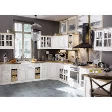 meuble bas de cuisine avec évier en manguier ivoire maisons du monde