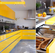 Bright Colored Kitchens - high gloss bright coloured cabinets are my favourite kitchen look