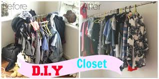 diy hanging clothing rack closet youtube