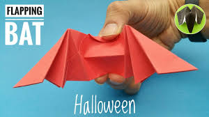 Bat For Halloween Flapping Bat For Halloween Diy Origami Tutorial By Paper