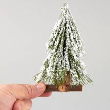 miniature frosted artificial tree trees and toppers