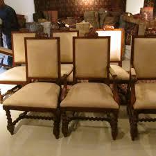 of eight ralph lauren dining chairs
