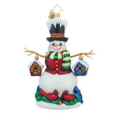 christopher radko ornaments radko chirp n chilly snowman