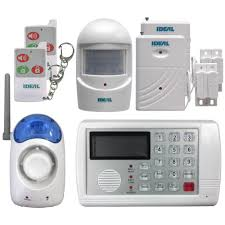 Home Security by Ideal Security 7 Piece Wireless Home Security Alarm System With