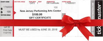 gift certificates gift certificates njpac