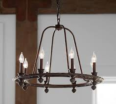 Candle Chandelier Pottery Barn Ornate Iron Ring Chandelier Pottery Barn