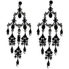 black chandelier earrings drop dangle and hoop earrings part 5 polyvore