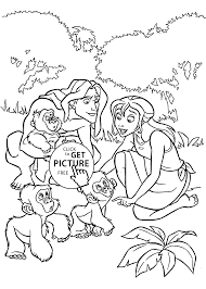 jane and little monkies coloring pages for kids printable free