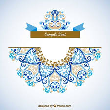ornamental decoration template vector free
