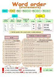 english teaching worksheets word order
