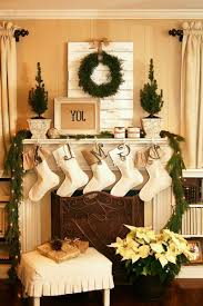christmas christmas fireplace mantel decorations stone
