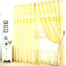 soft yellow curtains soft browns and gray watercolor stripes