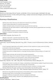 Substitute Teacher Resume Sample Examples Of Elementary Teacher Resumes High Teacher Resume