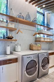Laundry Room Hangers - beach style utility room decorating ideas laundry room