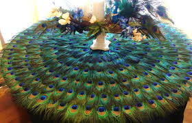 Peacock Feather Centerpieces by Peacock Home Decor Peacock Feather Place Mat Or Centerpiece