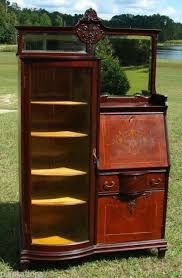 Antique Curio Cabinet With Desk Side By Side China Cabinet Server Collection On Ebay