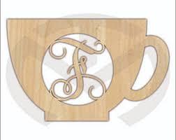 unfinished wood mason jar monogram door hanger laser cutout w