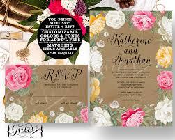 pdf wedding invitations pink and beige wedding invitation pink peony peonies