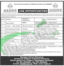 Apply Jobs Online Without Resume by Northwest Institute Of Medical Sciences Peshawar Jobs 2016 Apply