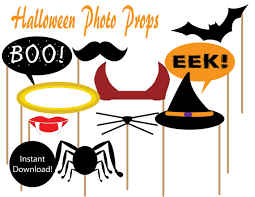 halloween photo booth props printable pdf items similar to printable halloween photo props instant download