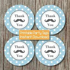 thank you tags mustache thank you tags baby shower by bumpandbeyonddesigns on zibbet