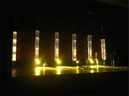 Church Lights Towers And Diagonals Church Stage Design Ideas