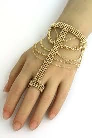 bracelet chain ring images 40 bracelet and ring chain kundan stone diamante hand chain jpg