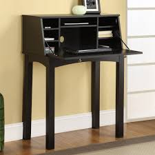 Tall Writing Desk by Rectangle Black Wooden Desk With Racks And Drawer Also Four Tall