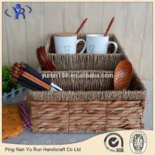 seagrass storage baskets with handle seagrass storage baskets