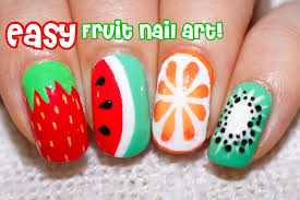 4 easy fruit nail art designs perfect for summer youtube