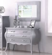 Bedroom In Silver Tone By American Eagle WOptions - Silver eagle furniture