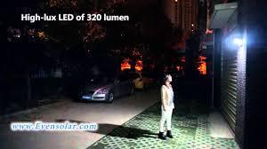 best led motion sensor light high lumen solar motion sensor security light sl 1140 youtube