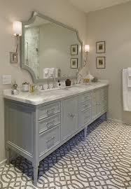 Furniture Style Bathroom Vanities Furniture Style Gray Vanity Gray Trellis Tile Floor Bathroom
