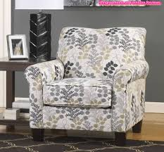 Arm Accent Chair Floral Patterned Fabric Accent Arm Chair