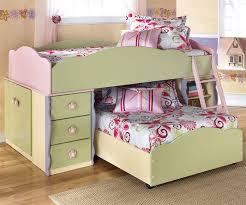 kids storage bedroom sets excellent ashley furniture doll house loft bed with built in dresser