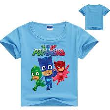 pj masks boys girls clothes children shirt cotton short