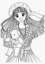 japanese anime coloring pages for girls just colorings