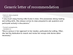 college recommendation letter process