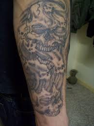 smoke skull tattoos