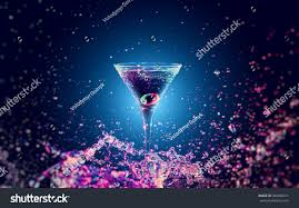cocktail splash colourful cocktail glass splash on dark stock photo 384658231