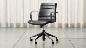 Crate And Barrel Office Desk Graham Black Office Chair Crate And Barrel