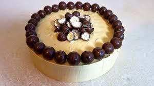 caramel malteser ice cream cake 3 ingredients youtube