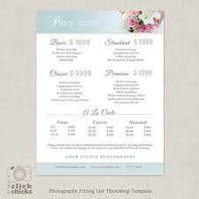 wedding packages prices wedding photography package pricing list template